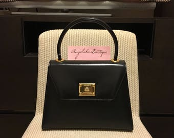 Authentic Bally Vintage Kelly Style Bag