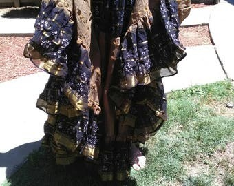 On sale now! Comes with free gift, 25 yd cotton belly dance skirt. ATS Tribal fusion Shavonni gardens