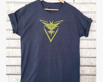 Pokemon Go Inspired Team Instinct Shirt