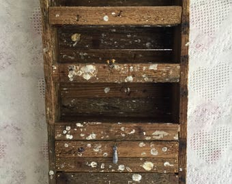 Hand Crafted Lobster Trap and Cedar Shake Shelf Stand with Drawers Knik Knacks/Jewelry/ Sea Shells/Miniatures Display/Personables/etc