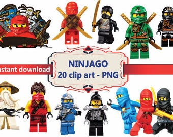 INSTANT DL- 20x Ninjago   Clipart - printable Digital Clipart Graphic Instant Download