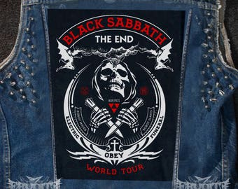 BLACK SABBATH - The End Tour Backpatch Back patch Doom Sleep Electric Wizard Type O Negative skull Back patch