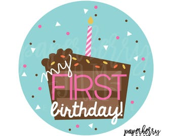 First Birthday Baby Onesie Sticker // Month to Month Stickers // For First Year Milestones // Onesie Stickers