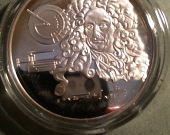Gottfried Wilhelm Leibniz - Sterling Silver History of Science (Proof)