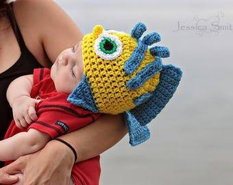 Crochet Flounder inspired hat