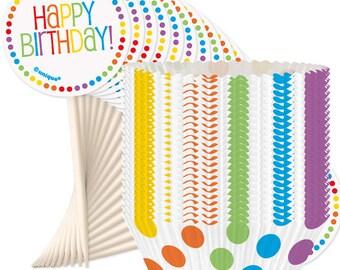 SALE Rainbow Party Cupcake Kit, Rainbow Party, Rainbow Cake, Rainbow Birthday, Rainbow Baby Shower, Rainbow Hen Party, Rainbow Party