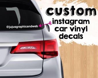 Custom Instagram Name Decal