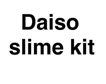 Daiso slime kit