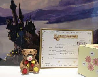 Beary 'Harry' Potter Bear Ornament