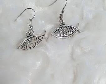 Jesus earrings