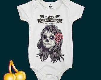 Sugar Skull Onesie Halloween Bodysuit/Romper/Onesie/T-shirt