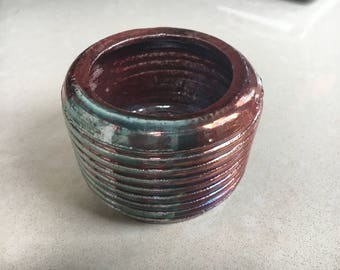 Bronze and Green Pot