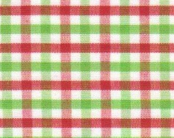 Red and Green Check Fabric by Fabric Finders - 100% Cotton - Christmas - Holiday