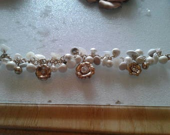 Custom Button Bracelets with charms