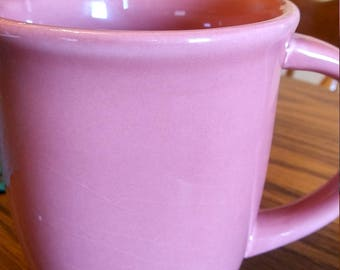 Gibson hand painted and signed PINK Coffee mug