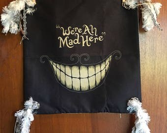 We're All Mad!! Pillow cover.