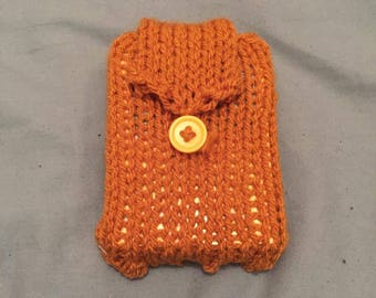 Knitted 'Poke-Pouch' | Pokemon Trading Card deck holder - Yellow/Electric