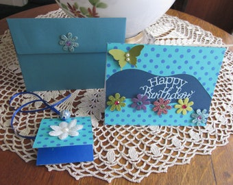 HAPPY BIRTHDAY CARD, Female, Wife, Sister, Girlfriend, Aunt, Mother, Boss, Flowers , Handmade