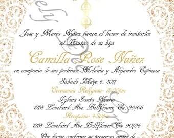 Baptism Invitations, Baptism Invite, Mi Bautizo
