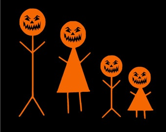 Halloween Stick Family