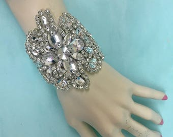 Rhinestone  Boho Jewelry, Rhinestone Boho Bracelet, Bridal Wedding Bracelet, Bridal Wedding Jewelry, Crystal Wedding Bracelet