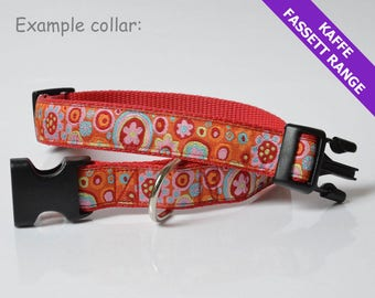 Bespoke dog lead & collar (46-56cm), 25mm width