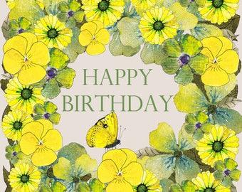 Happy Birthday Yellow Flowers