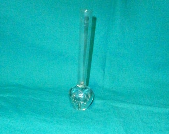 glass vase, clear/modernist/retro, 1960sMil /Vintage/contemporary design/British