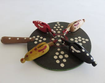 Romanian Hand Painted Chicken Paddle Game