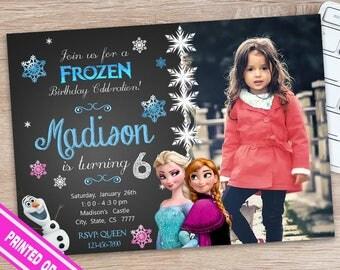 Frozen Invitation - Disney Frozen Invitation - Frozen Birthday Invitation