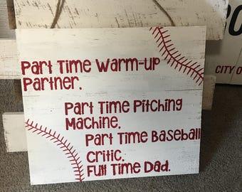 Baseball Dad wod sign