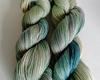 Spring Meadows, hand dyed, sport weight, super wash merino wool