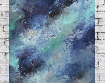 Original Abstract Colorful Soft Dreamy Painting