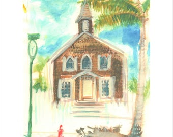 Philipsburg St Maarten Church print