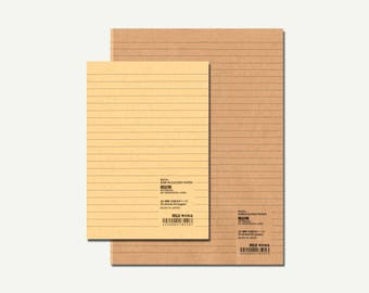 Muji, Ruled Notebook - Muji notebook, lined notebook, lined journal, ruled journal, Muji journal, Muji stationery, notebook set, A6, A5, B5