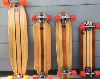 Hardwood handmade skateboard