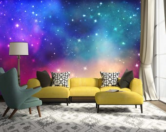 3D Colorful Nebula 117 View Wallpaper Mural Wall Print Decal Wall Deco  Indoor Wall Murals Wall