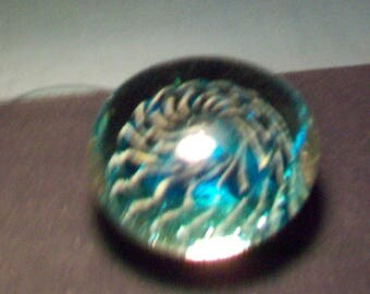 Very Interesting Blue Anemone Paperweight Coleman