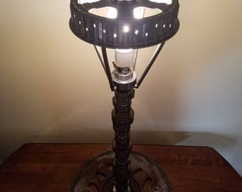 Upcycled Car Part Art working lamp