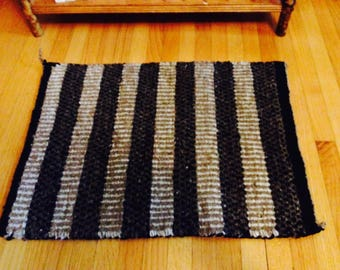 small navajo rug, double weave rug, native american rug