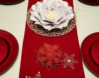 Holiday flowers decor. Holiday flowers table decor. Large flowers decor. Wedding table centerpiece. Baby shower decor.