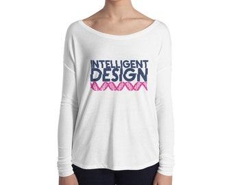 Intelligent Design, Ladies' Long Sleeve Tee