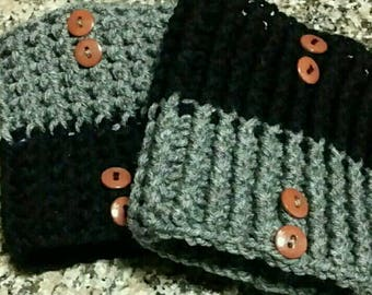 Reversible boot cuffs, boot cuffs, boot socks, crochet boot cuff, cuffs