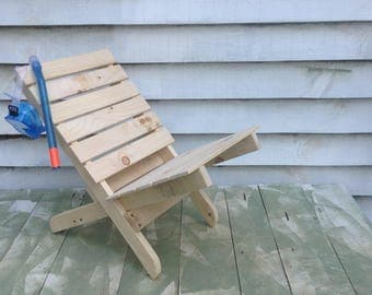 Kids Wooden Collapsible Camp Chair