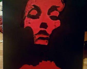 Jane Doe (Converge) album cover painting (red)