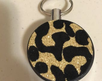 Leopard Retractable Reel ID Badge