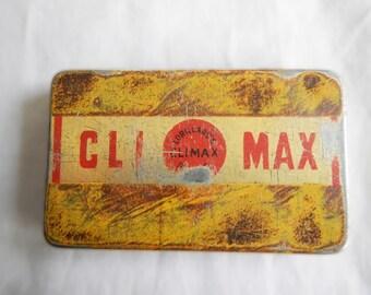Vintage Climax Tobacco Tin Circa 1910 | Vintage Tobacciana | Antique Tobacciana | The Grand Old Chew | Chewing Tobacco Advertising