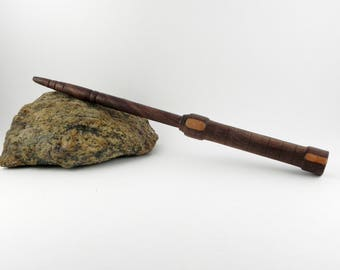 Walnut and Cherrywood wand 10'' 3/4 Unicorn hair core