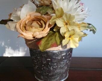Floral arrangement centerpiece.
