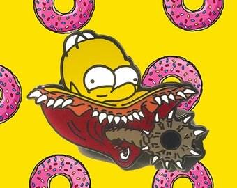 The Simpsons Donut Reaper Enamel Pin